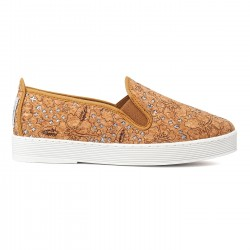 Flossy slip-on corchete natural