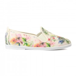 Flossy slip-on floreal  beig