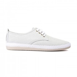 Zapatillas Flossy perforadas rifle blanco