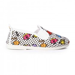 Flossy slip-on mr. men polka blanco