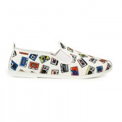 ZAPATILLAS DJ GALLARD FLOSSY SLIP ON 55-553 BLANCA