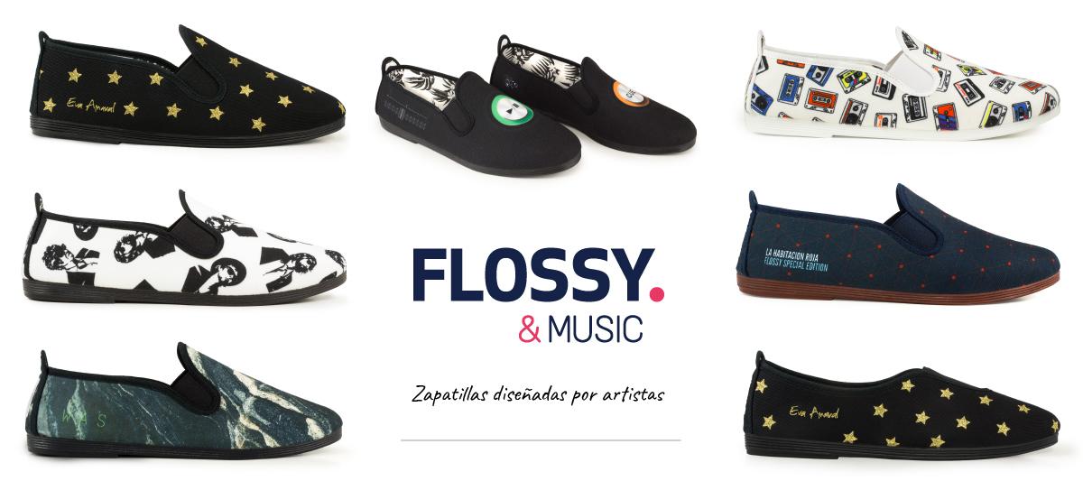 Zapatillas Flossy & Music diseñadas por artistas hechas en España